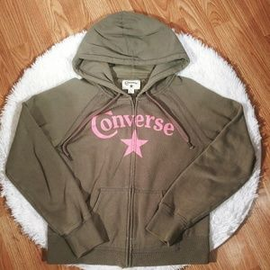 Converse Grey long sleeve zip up hoodie Sz. M